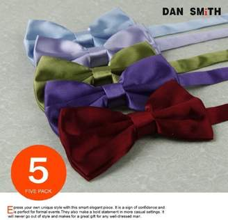 DAY Birger et Mikkelsen Bow Tie For Men Burgundy,Grey,Green Yellow,Orange,Blue Solid Poly Pre-tied Bow tie Gift Box Set 5T By Dan Smith