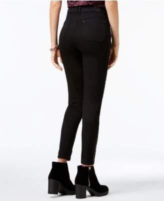REWIND Juniors' Embellished-Side Skinny Ankle Jeans
