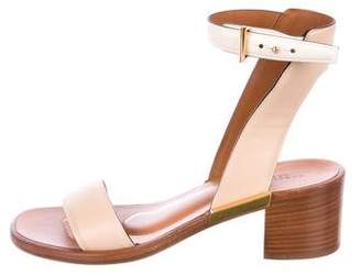 Rosetta Getty Leather Ankle-Strap Sandals