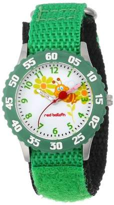 EWatchFactory Red Balloon Kids' W000184 Buzzing Bees Green Time Teacher Watch