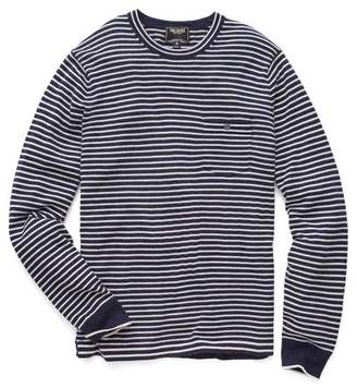 Todd Snyder Cashmere T-Shirt Sweater in Navy Stripe