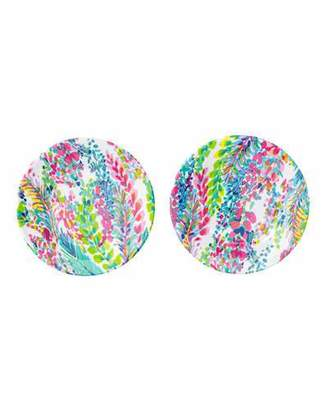 Lilly Pulitzer Catch The Wave Melamine Appetizer Plates, Set of 4