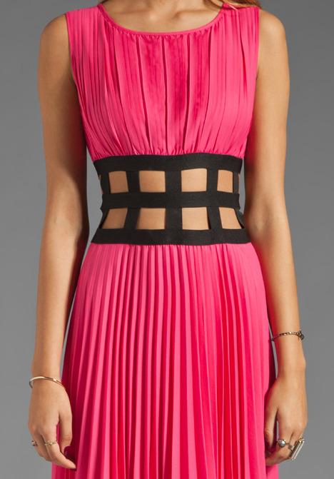 BCBGMAXAZRIA Cut Out Dress