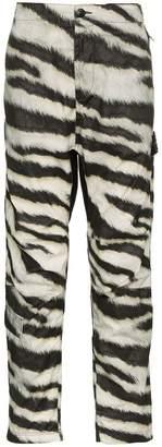 Stone Island zebra print track pants