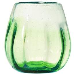 Global Amici Amici Home Rosa Stemless Wine Glass, Optic Ombre Lime Green, Set of 4, 16 oz
