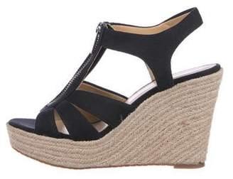 MICHAEL Michael Kors Canvas Wedge Sandals