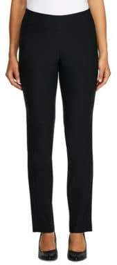 Haggar Bengaline Pull-On Slim-Fit Pants