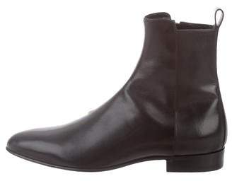 Saint Laurent Leather Ankle Boots w/ Tags