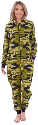 Body Candy Loungewear Women's Adult Knit Hooded Onesie Pajama (Penguin Fair Isle,)