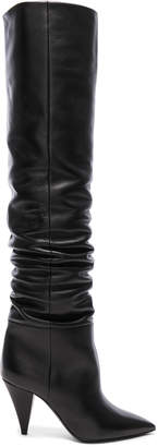 Saint Laurent Leather Era Thigh High Boots