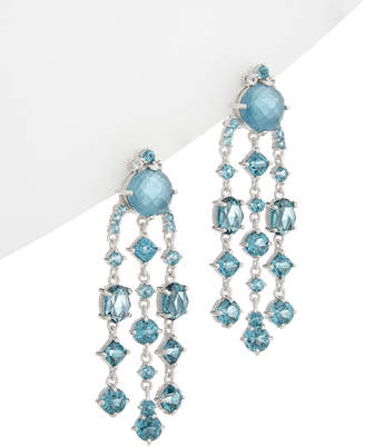 Judith Ripka Silver 31.99 Ct. Tw. White Topaz Drop Earrings