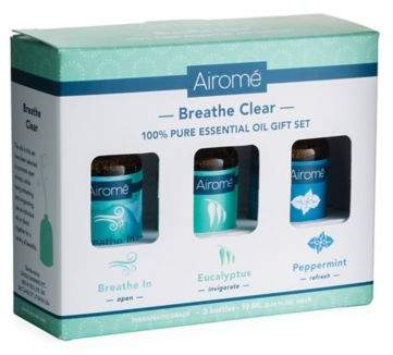 Bed Bath & Beyond Breathe Clear 100% Pure 10 ml. Essential Oils Gift Set