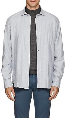 Hartford Men's Brushed Cotton Flannel Shirt