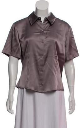 St. John Silk Short Sleeve Top w/ Tags