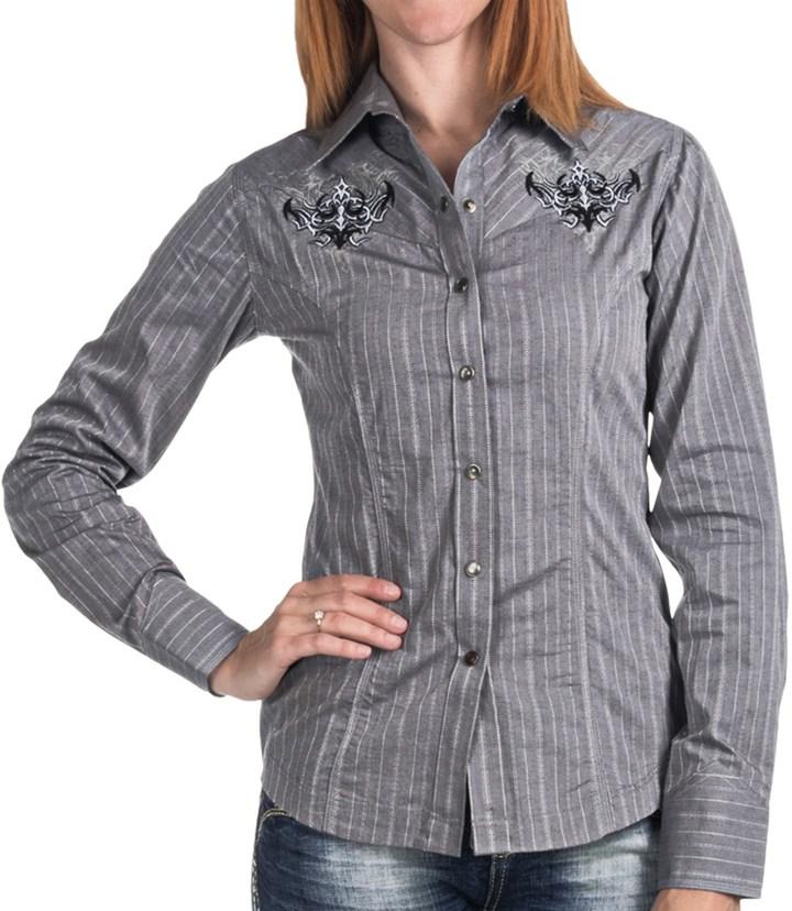 Panhandle Slim 90 Proof Satin Stripe Shirt (For Women)