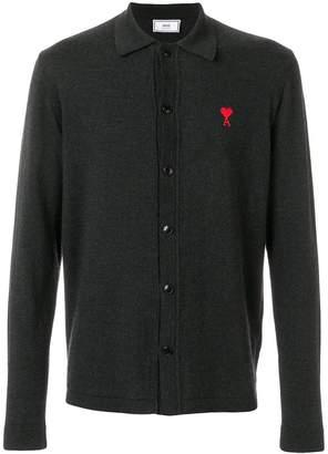 Ami Alexandre Mattiussi Knitted Shirt Ami De Coeur Embroidery