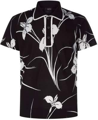 N°21 N 21 Hawaiian Knit Polo Shirt