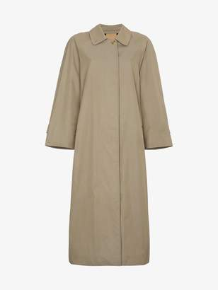 Burberry Restored 1980s Single Breasted Long Trench Coat