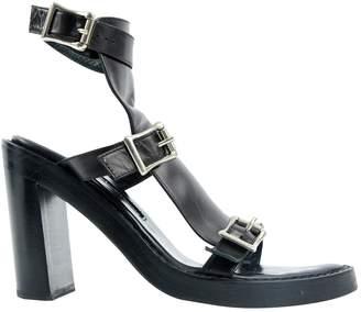 Ann Demeulemeester Leather sandal