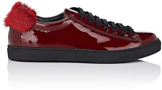 Mr & Mrs Italy Women's Mink-Fur-Trimmed Patent Leather Sneakers