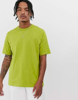 Asos loose fit heavyweight t-shirt in olive