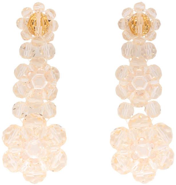 Pink Three-tier Drop Earrings
