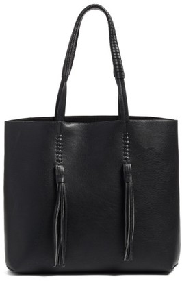 Chelsea28 Adriana Fringe Faux Leather Tote - Black $79 thestylecure.com