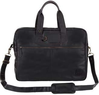 MAHI Leather - Classic Leather Holdall In Ebony Black
