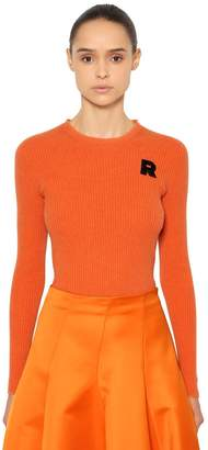 Rochas Cashmere Rib Knit Sweater