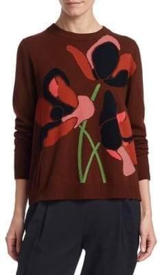 Akris Punto Anemone Wool& Cashmere Crewneck Sweater