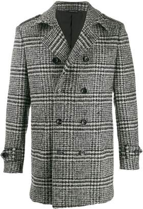 Tonello houndstooth pea coat