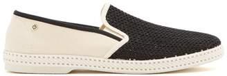 Rivieras - Tour Du Monde Slip On Canvas Loafers - Mens - Black Multi