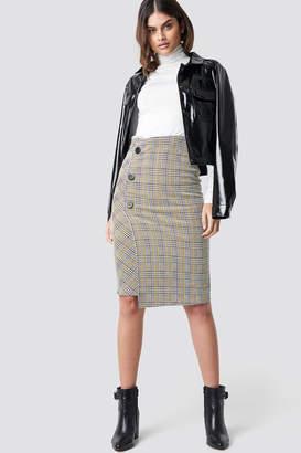 MANGO Queen Midi Skirt Mustard
