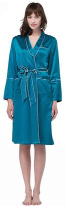Mulberry LILYSILK Silk Bathtobe for Women 22MM 100% Silk Midi Length Kimono Robe