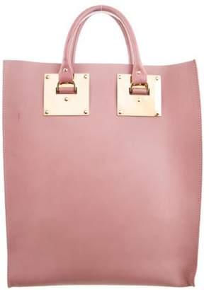 Sophie Hulme Leather Albion Satchel Bag Pink Leather Albion Satchel Bag