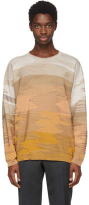 Missoni Orange 3D Effect Crewneck Sweater