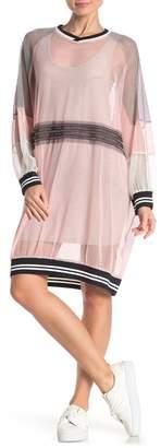 TOV Mesh Sweater Dress