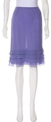 Valentino Knee-Length Tiered Skirt