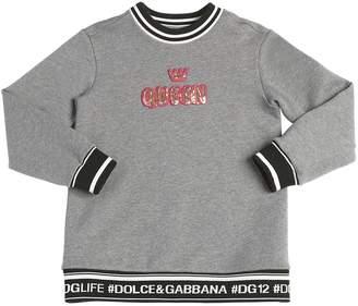 Dolce & Gabbana Queen Patch Cotton Sweatshirt