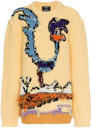 Calvin Klein Roadrunner intarsia reversed seam virgin wool jumper