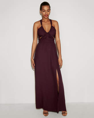 Express Strappy Cut-Out Fit And Flare Maxi Dress