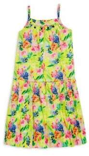 Little Girl's & Girl's Floral-Print Cotton Sundress
