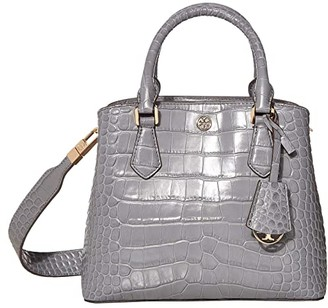 Tory Burch Robinson Embossed Small Triple-Compartment Tote