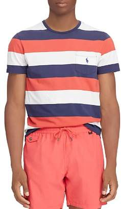 Polo Ralph Lauren Washed Stripe-Pattern Pocket Tee