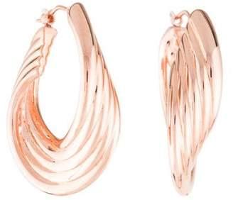 14K Twisted Ribbed Hoop Earrings