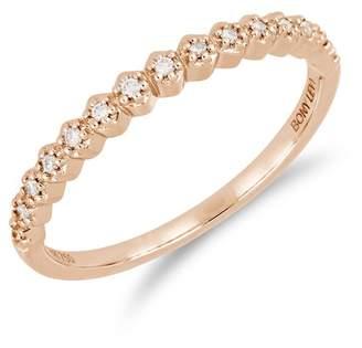 Bony Levy 18K Rose Gold Prong Set Diamond Accent Ring