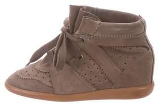 Isabel Marant Bobby Wedge Sneakers Olive Bobby Wedge Sneakers