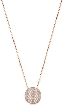 Bloomingdale's Pavé Diamond Medallian Necklace in 14K Rose Gold, 1.50 ct. t.w. - 100% Exclusive