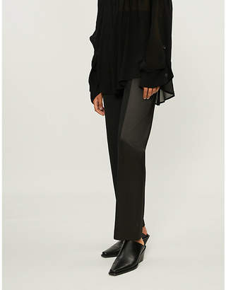 Haider Ackermann Straight wool and satin trousers