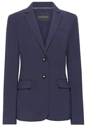 Banana Republic Long and Lean-Fit Machine-Washable Italian Wool Blend Blazer